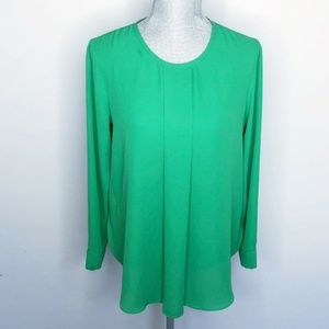 Vince Camuto Blouse Long Sleeve Pleated Key (S12)